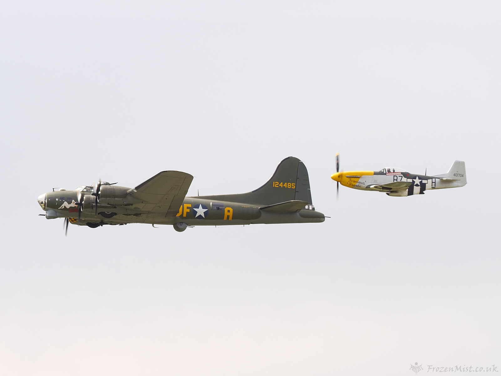 Boeing B17 And P 51 Mustang Wallpaper Frozenmist