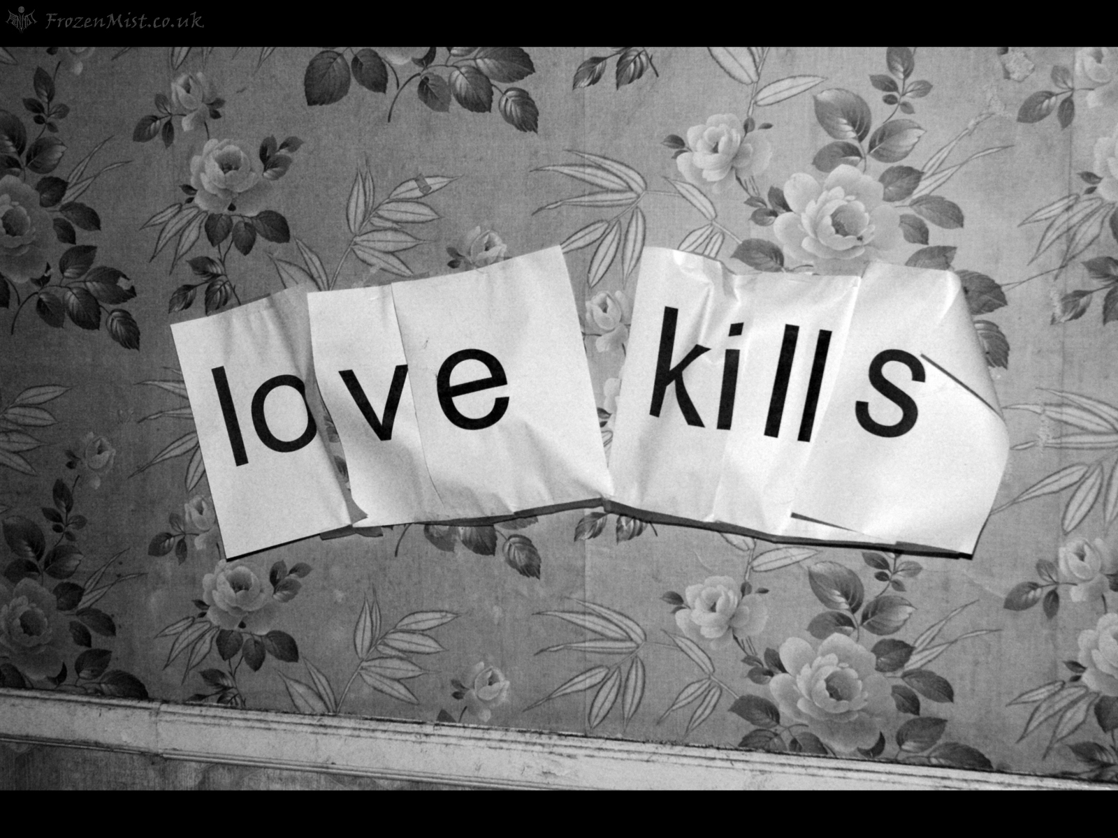 Love Kills Wallpaper : Love Kills Wallpaper - FrozenMist